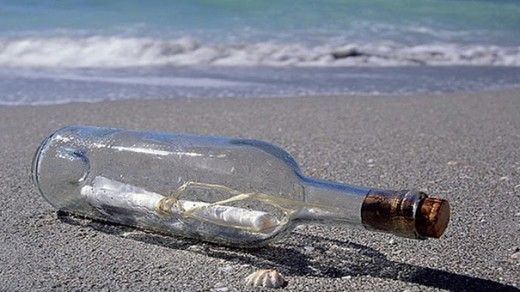 note in a bottle