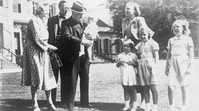 3. Winston Churchill with family