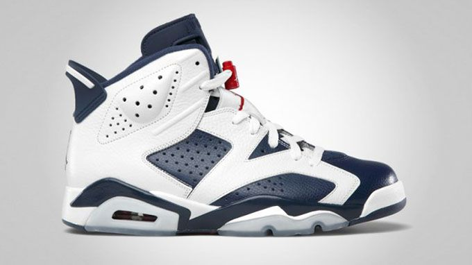 Classic Men Jordan Shoes-Air Jordan 6 Retro WhiteMidnight Navy