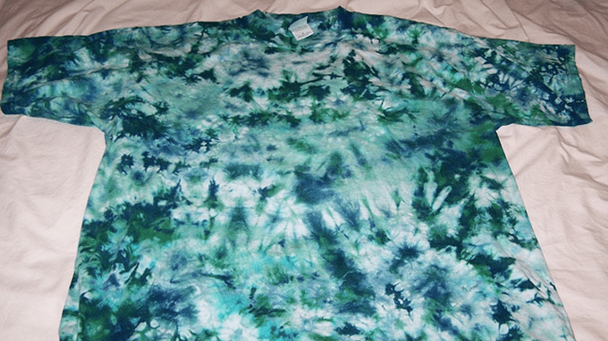 Tie-dye Pattern Two-color marbel