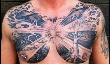 13 Striking Examples Of Chest Tattoos For Men