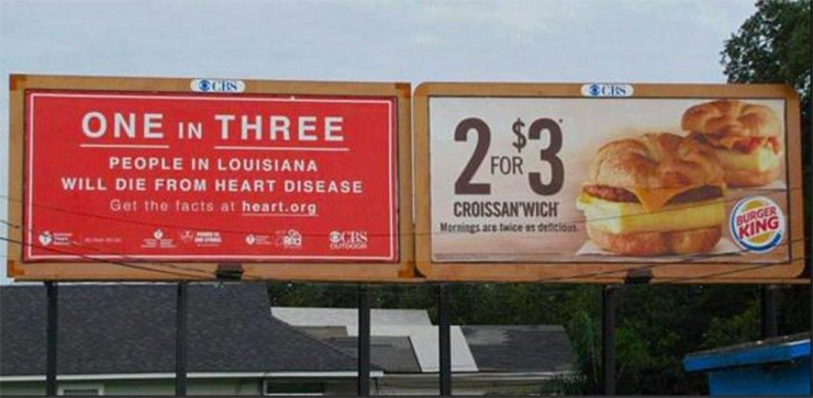 One in Three - 2 for $3 Billboard