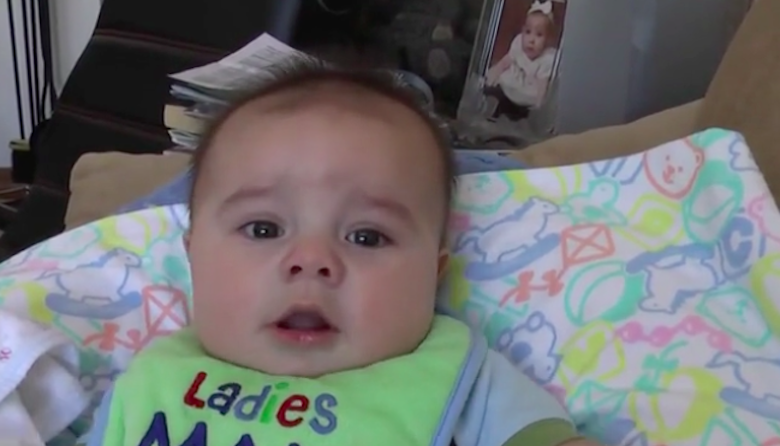 Baby Has An Adorably Surprising Sneezing Fit While Eating Breakfast